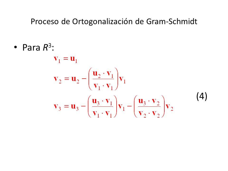 Proceso de Ortogonalización de Gram-Schmidt Para R 3 : (4)