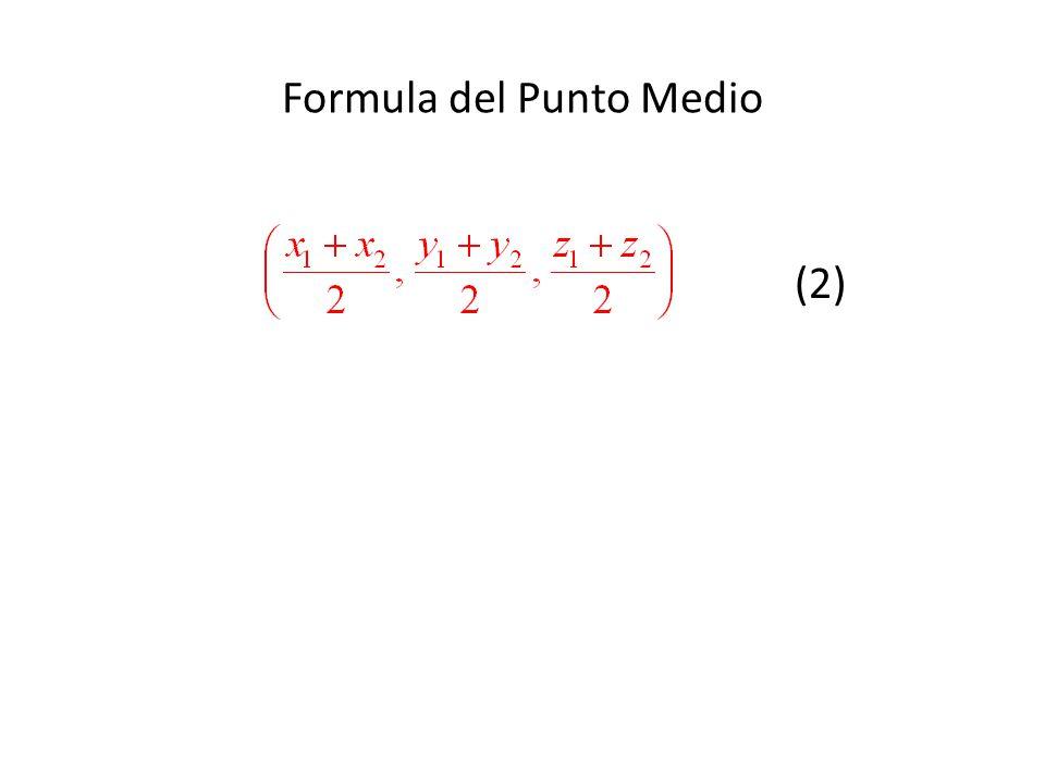 Formula del Punto Medio (2)