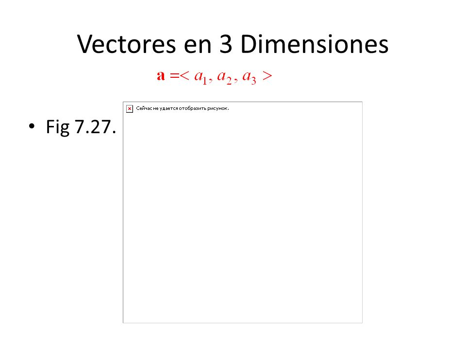 Vectores en 3 Dimensiones Fig 7.27.