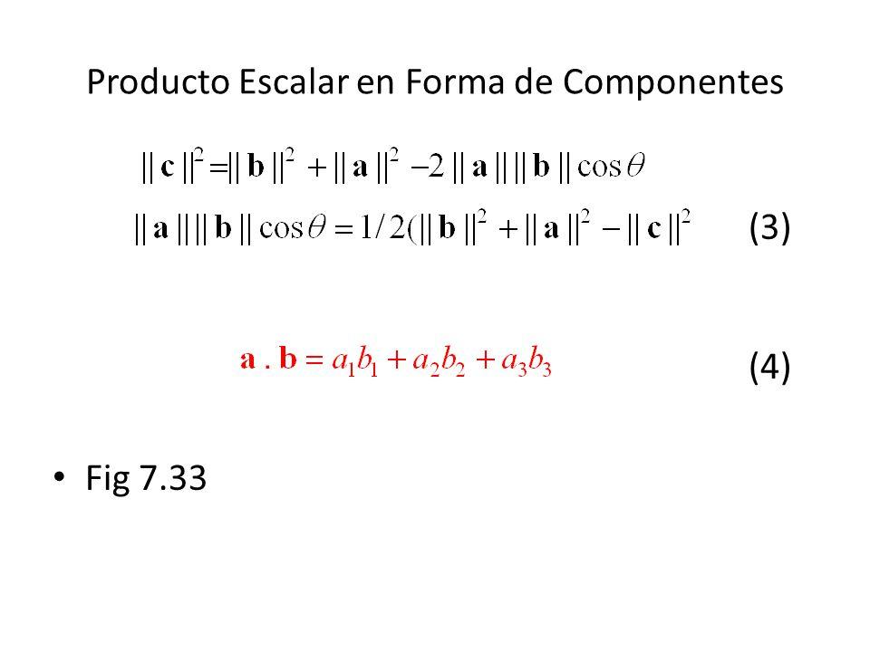 Producto Escalar en Forma de Componentes (3) (4) Fig 7.33