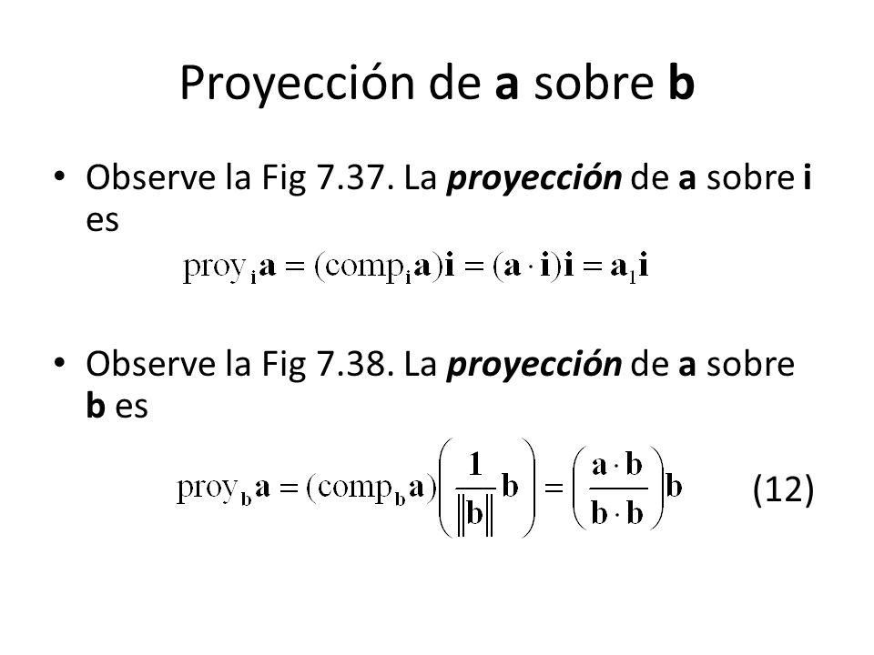 Proyeccion Sobre un Vector Proyección de a Sobre b
