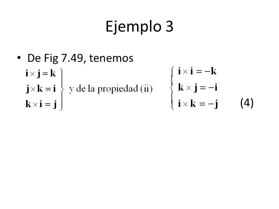 Ejemplo 3 De Fig 7.49, tenemos (4)