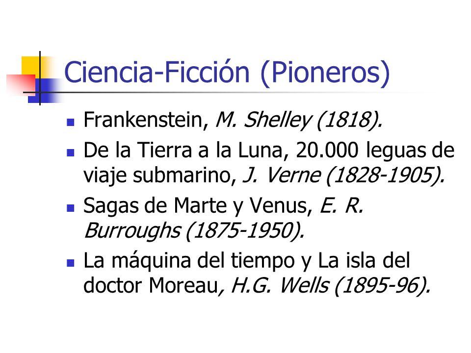 Ciencia-Ficción (Pioneros) Frankenstein, M. Shelley (1818).