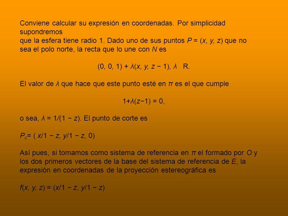Conviene calcular su expresión en coordenadas.