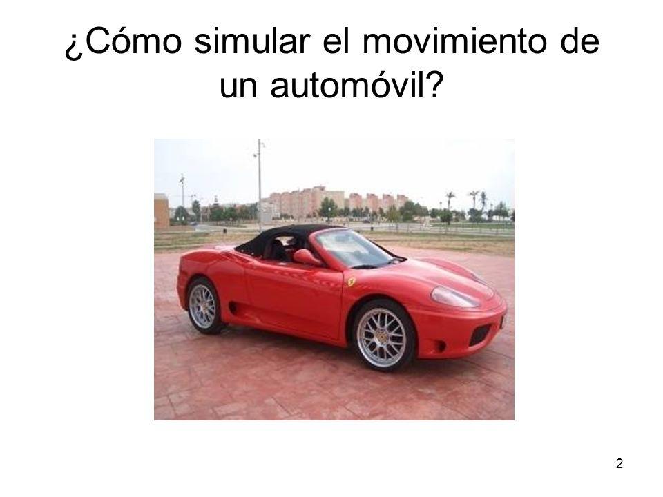 2 ¿Cómo simular el movimiento de un automóvil?
