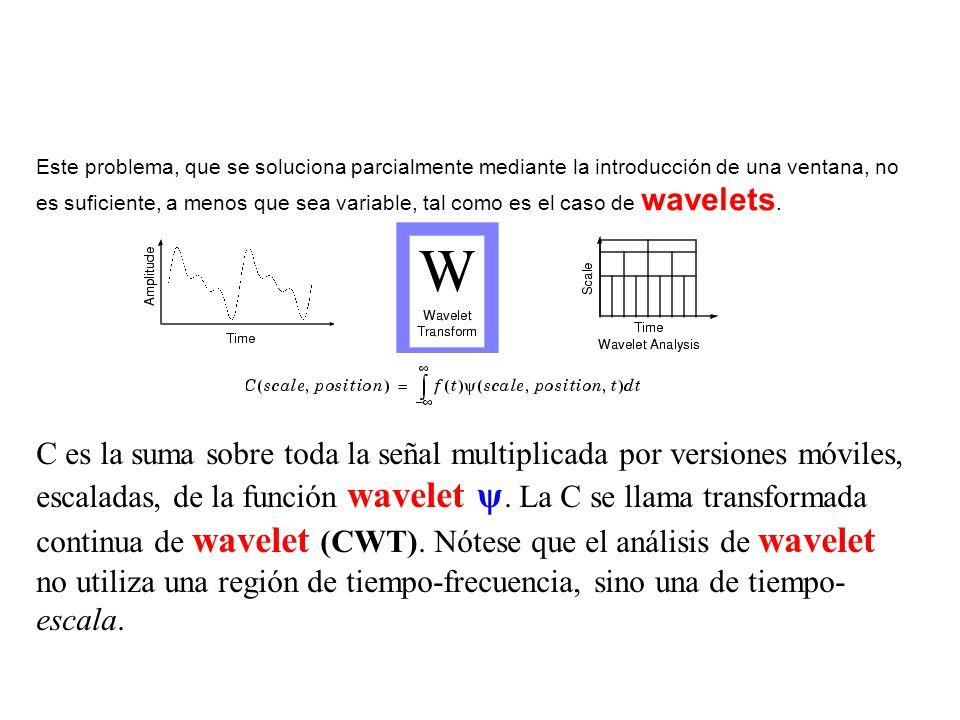 Este problema, que se soluciona parcialmente mediante la introducción de una ventana, no es suficiente, a menos que sea variable, tal como es el caso
