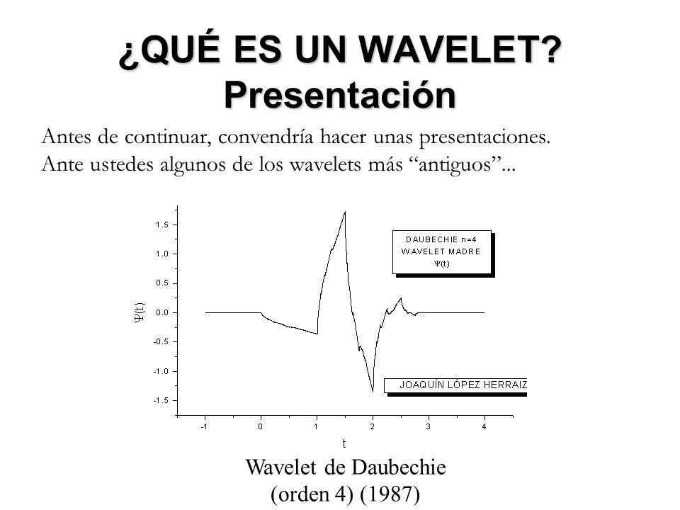 FOURIER vs WAVELETS FOURIER vs WAVELETS VENTAJAS DE LA TRANSFORMADA DE WAVELETS La Transformada Discreta de Wavelets presenta además claras ventajas frente a su contrapartida de Fourier: - Más rápida desde el punto de vista computacional: O(N) [DWT], frente a O(NlogN) [FFT] para una muestra de N datos.
