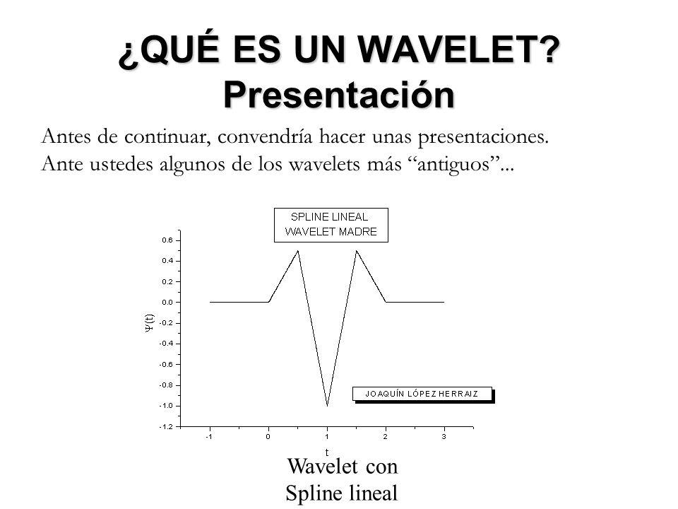 ¿QUÉ ES UN WAVELET.Presentación El número de wavelets existentes es enorme.