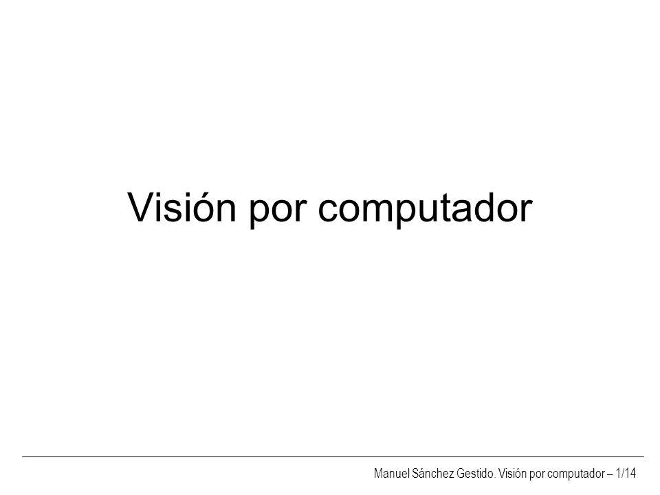 Manuel Sánchez Gestido. Visión por computador – 1/14 Visión por computador