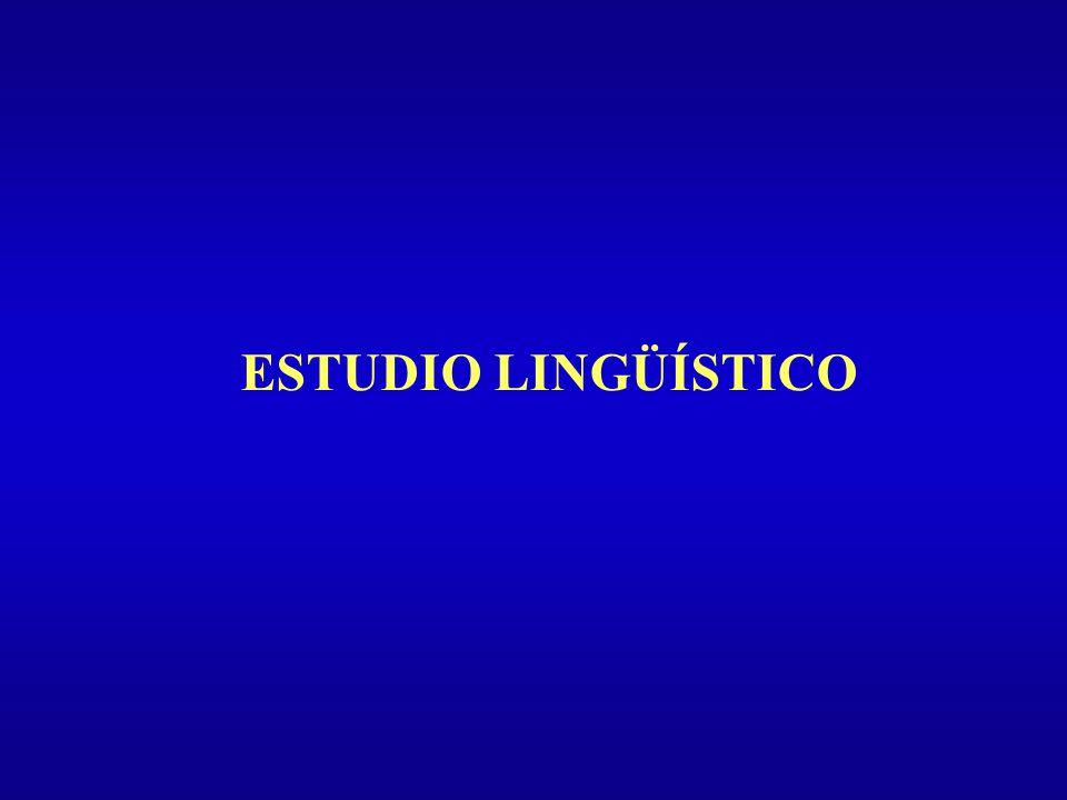 ESTUDIO LINGÜÍSTICO