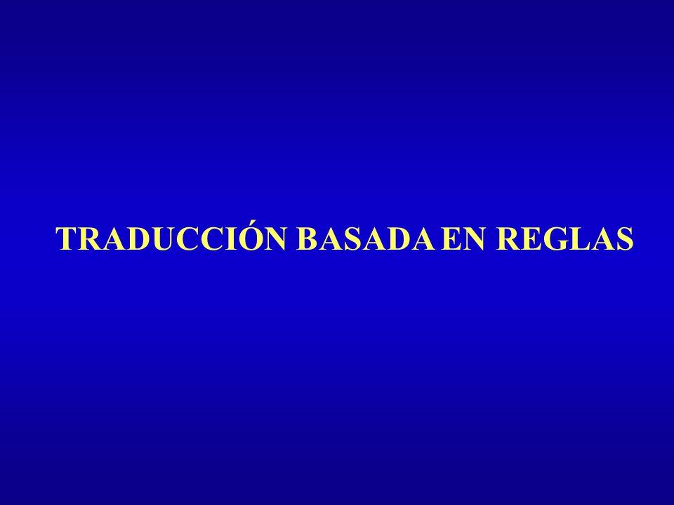TRADUCCIÓN BASADA EN REGLAS