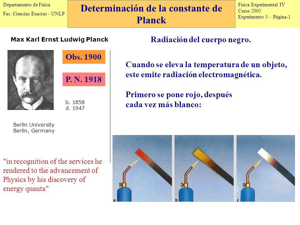 Física Experimental IV Curso 2005 Experimento 3 - Página-1 Departamento de Física Fac.