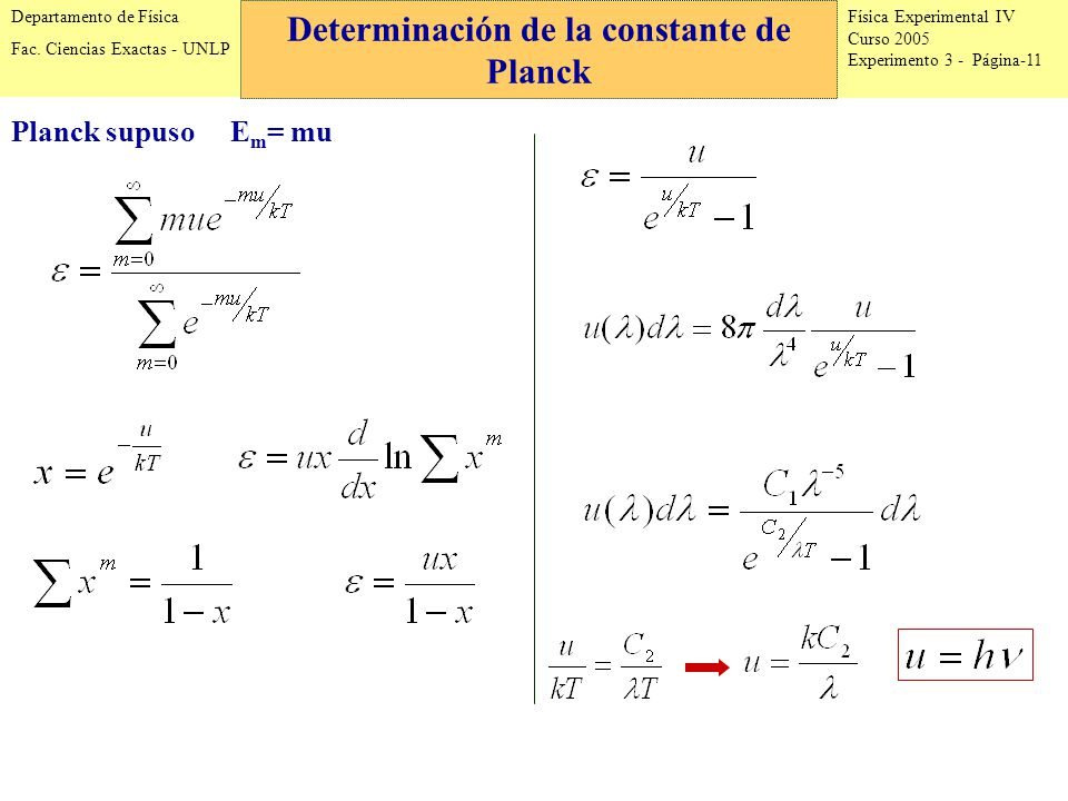 Física Experimental IV Curso 2005 Experimento 3 - Página-11 Departamento de Física Fac.