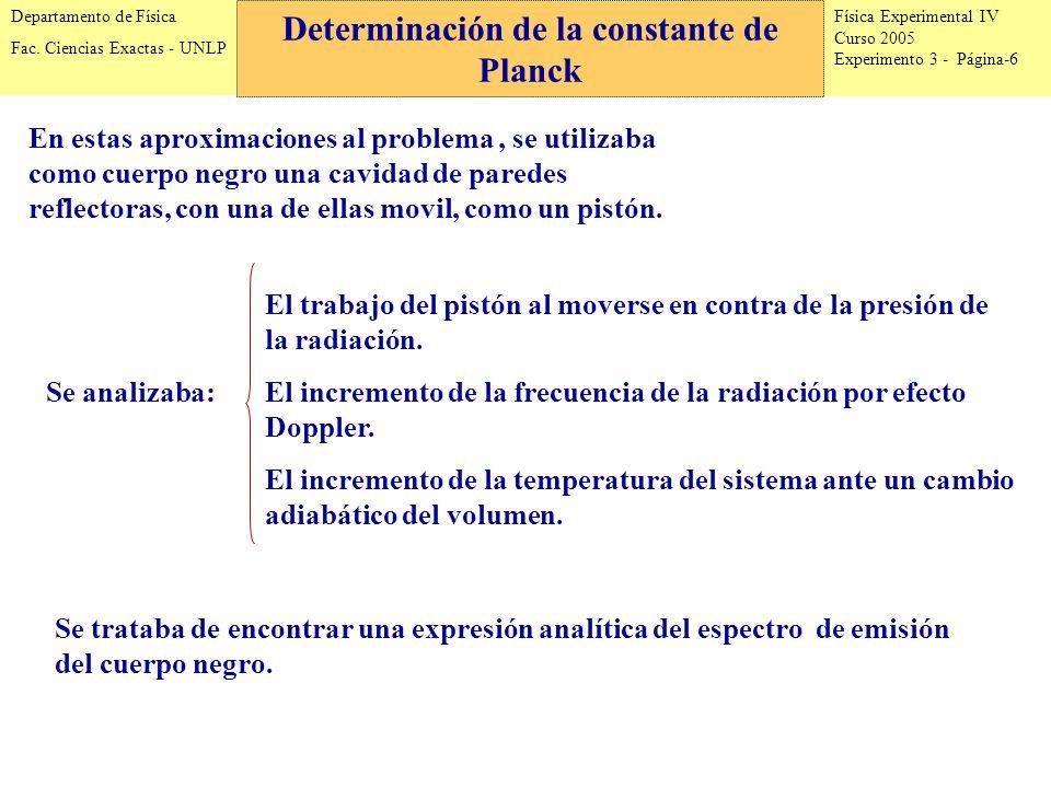 Física Experimental IV Curso 2005 Experimento 3 - Página-6 Departamento de Física Fac.
