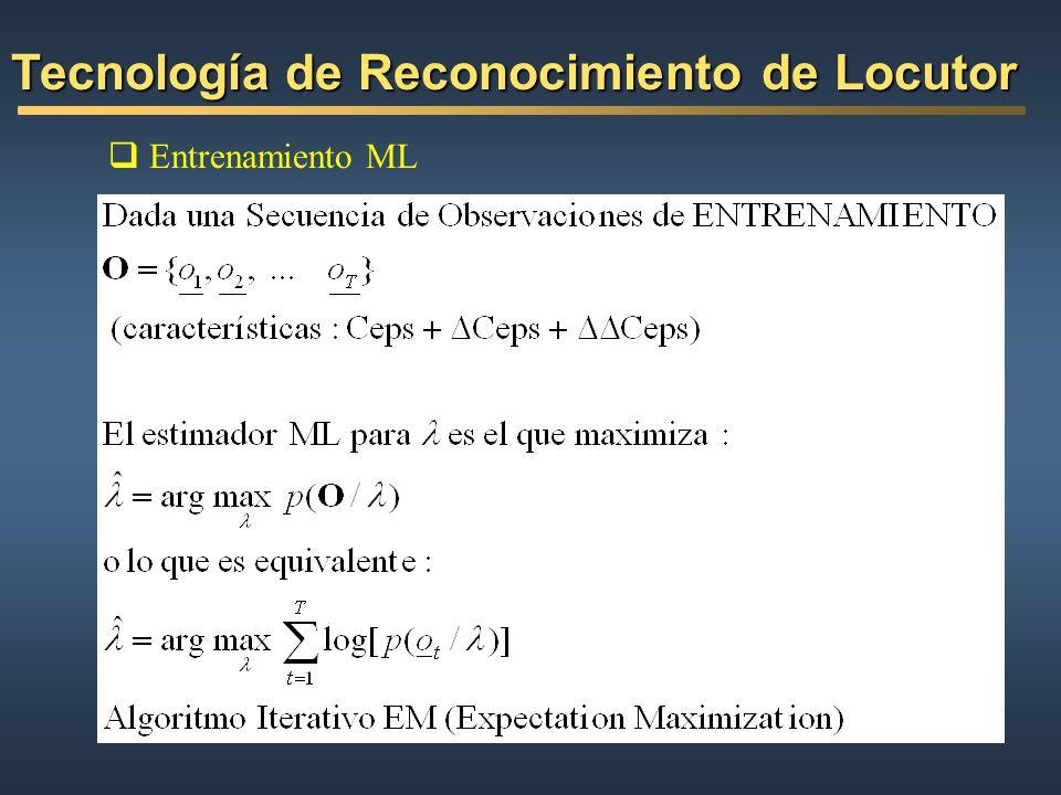 Entrenamiento ML Tecnología de Reconocimiento de Locutor