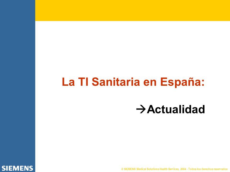 La TI Sanitaria en España: Actualidad