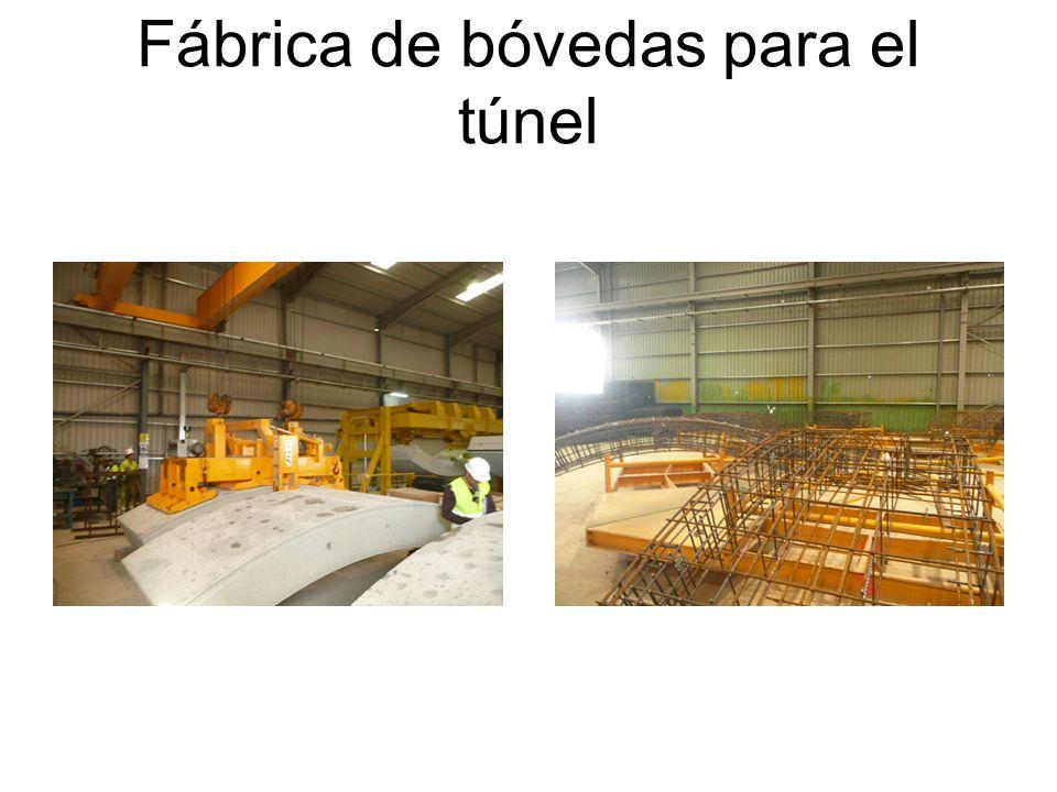 Fábrica de bóvedas para el túnel