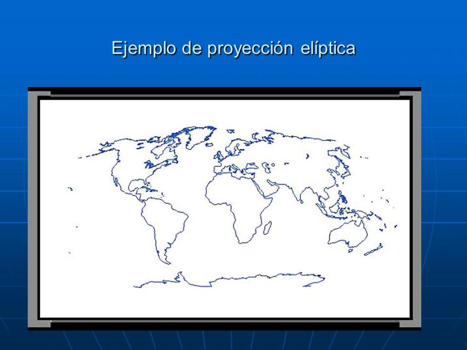 figura 3. Ejemplo de proyección de Mercator