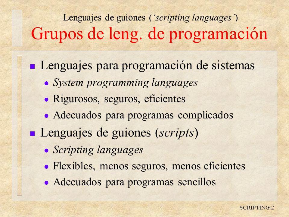 SCRIPTING-2 Grupos de leng.