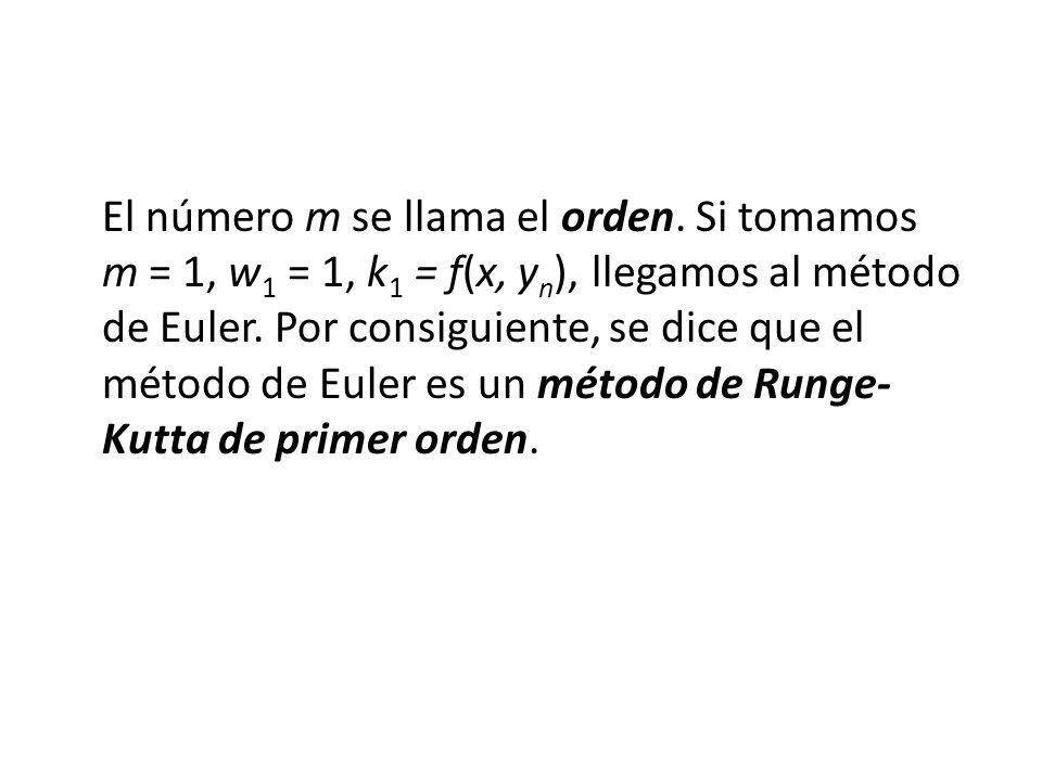 El número m se llama el orden.