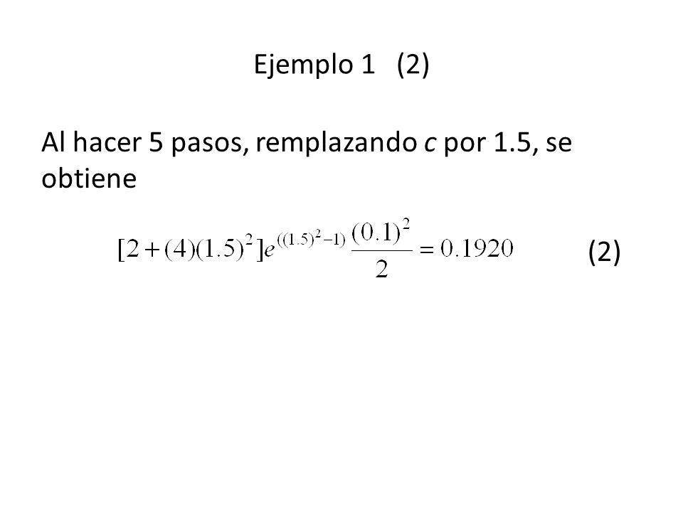 El valor de y n+1 * se sustituye en el corrector de Adams-Moulton (2)