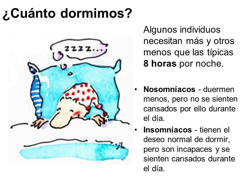 ¿Cuánto dormimos.Algunos individuos necesitan más y otros menos que las típicas 8 horas por noche.