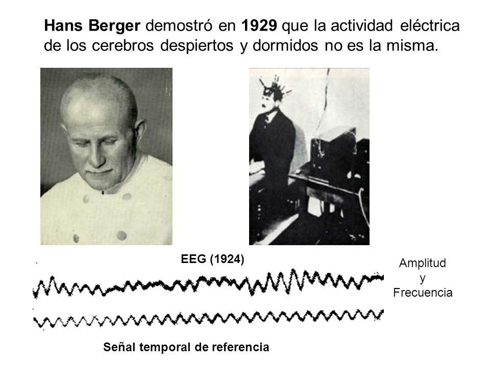 Hans Berger demostró en 1929 que la actividad eléctrica de los cerebros despiertos y dormidos no es la misma.