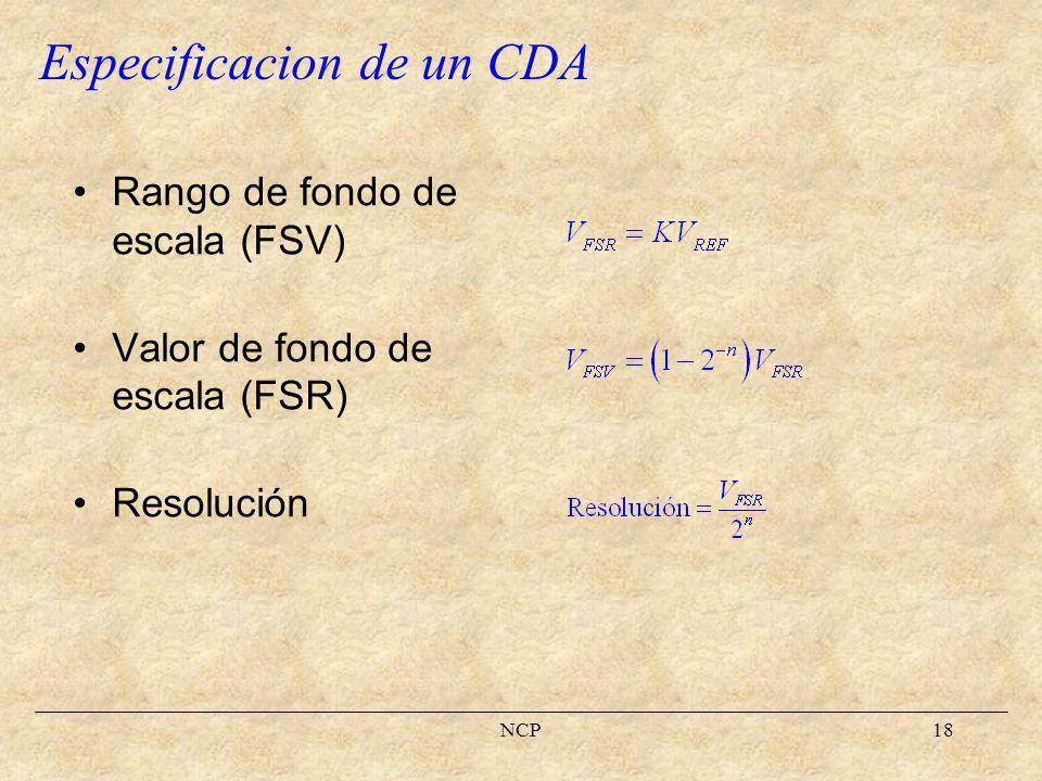 NCP19 Offset Ganancia Especificacion de un CDA