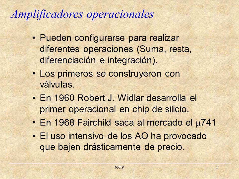 NCP4 Para construir circuitos con AO, en la inmensa mayoría de los casos, no es necesario conocer el funcionamiento interno del dispositivo.