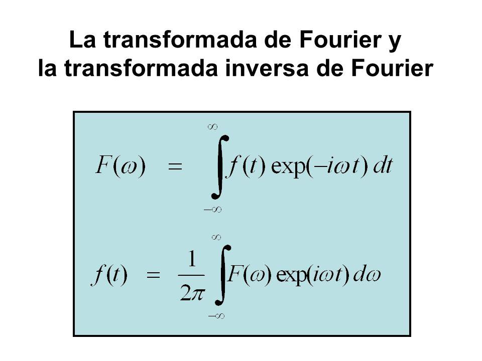 La transformada de Fourier y la transformada inversa de Fourier