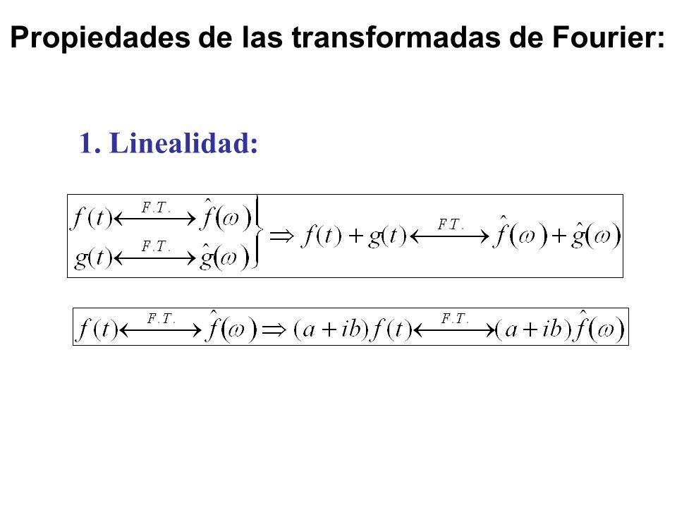 Propiedades de las transformadas de Fourier: 1. Linealidad: