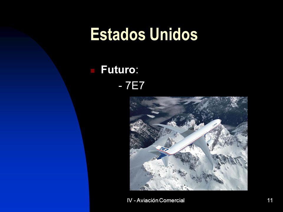 IV - Aviación Comercial11 Estados Unidos Futuro: - 7E7