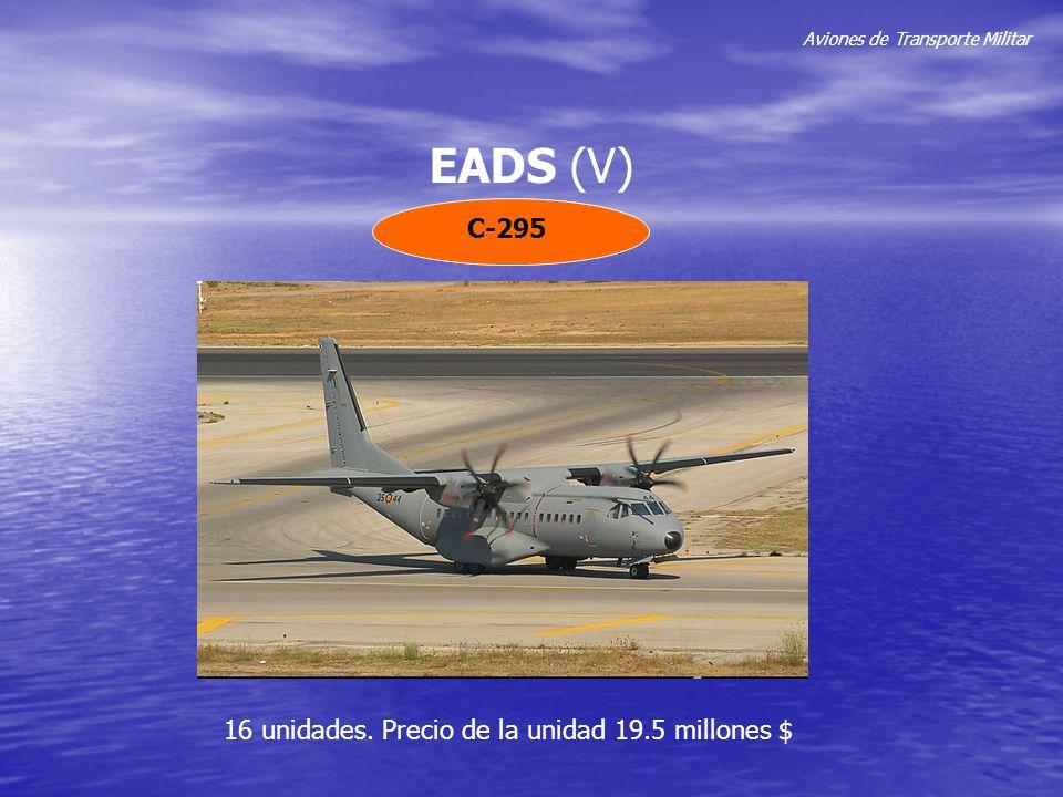 Aviones de Transporte Militar EADS (V) C-295 16 unidades. Precio de la unidad 19.5 millones $