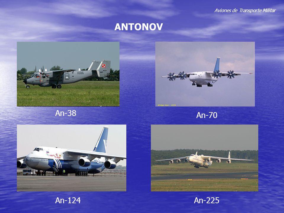 Aviones de Transporte Militar ANTONOV An-38 An-124 An-70 An-225