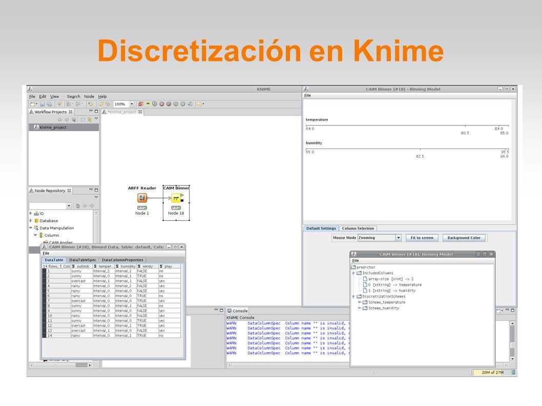 Discretización en Knime