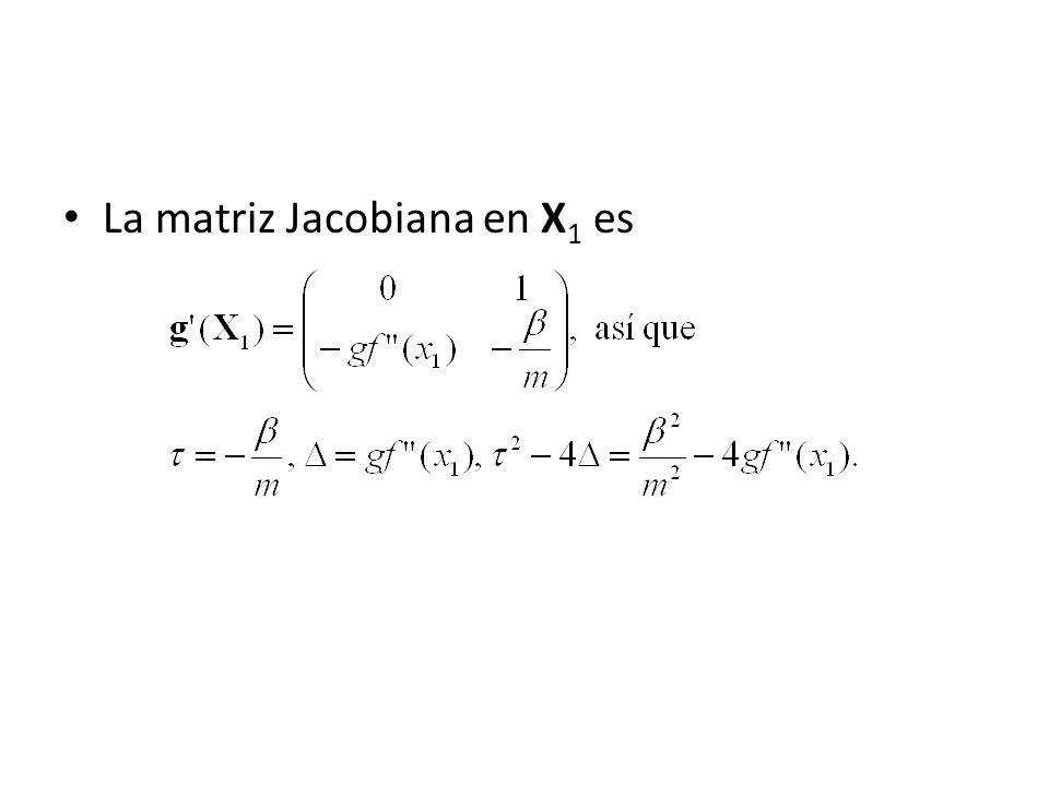 La matriz Jacobiana en X 1 es