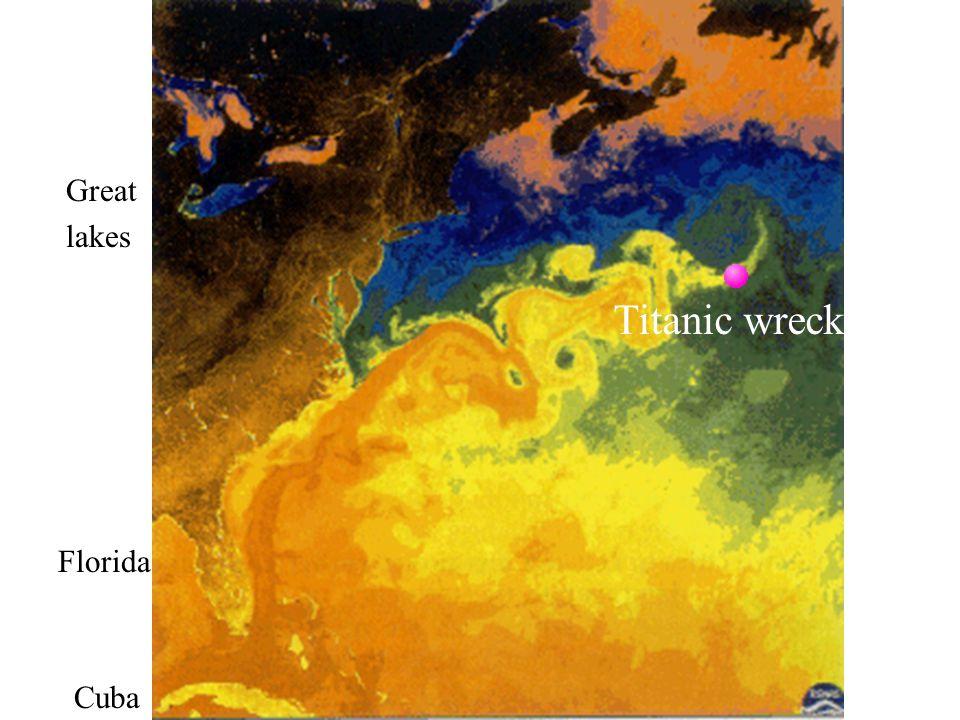 Florida Cuba Titanic wreck Great lakes