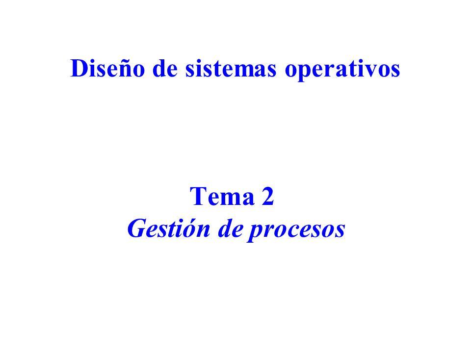 Diseño de Sistemas Operativos 42 Threads Concepto moderno de proceso: –Contiene múltiples flujos de ejecución (threads o procs.