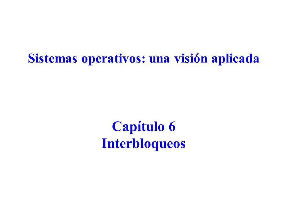 Sistemas operativos: una visión aplicada Capítulo 6 Interbloqueos