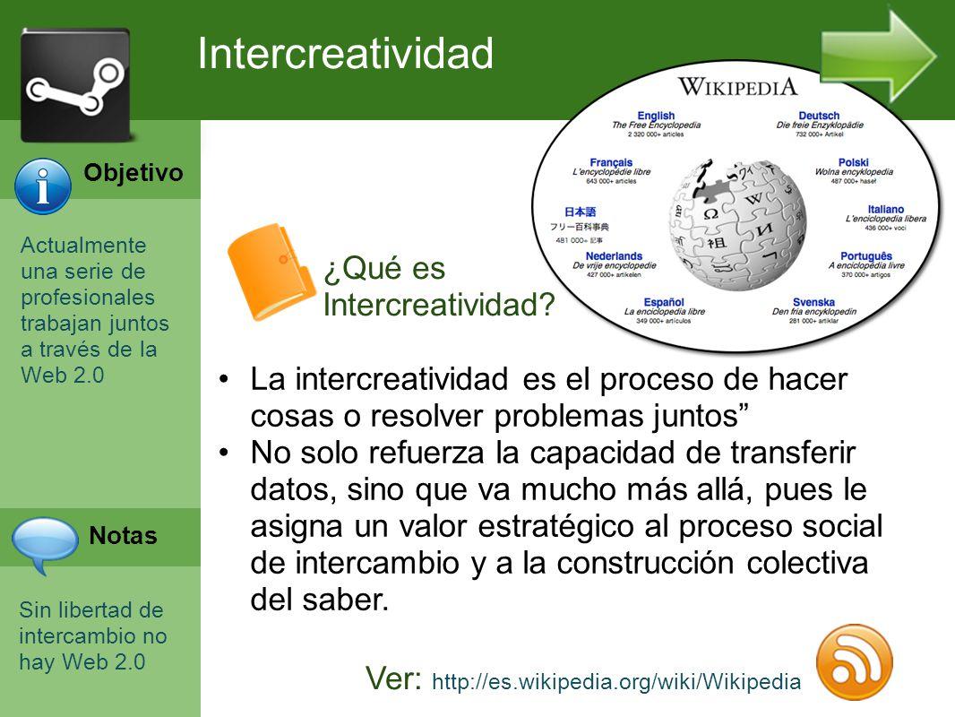Programación Web en Servidor Curso INEM 2010 Actualmente una serie de profesionales trabajan juntos a través de la Web 2.0 Sin libertad de intercambio