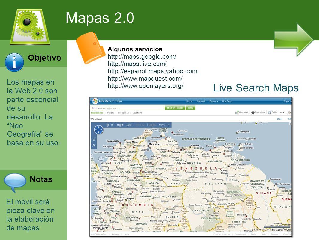 Programación Web en Servidor Curso INEM 2010 Los mapas en la Web 2.0 son parte escencial de su desarrollo. La Neo Geografía se basa en su uso. El móvi