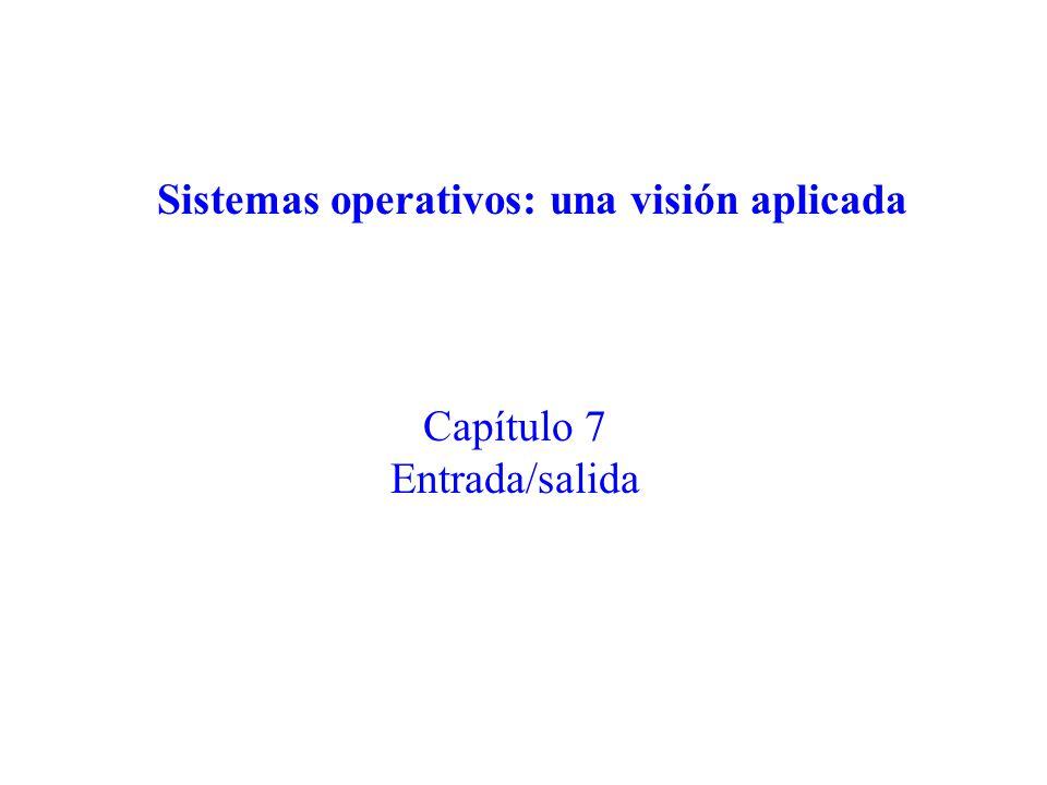 Capítulo 7 Entrada/salida Sistemas operativos: una visión aplicada