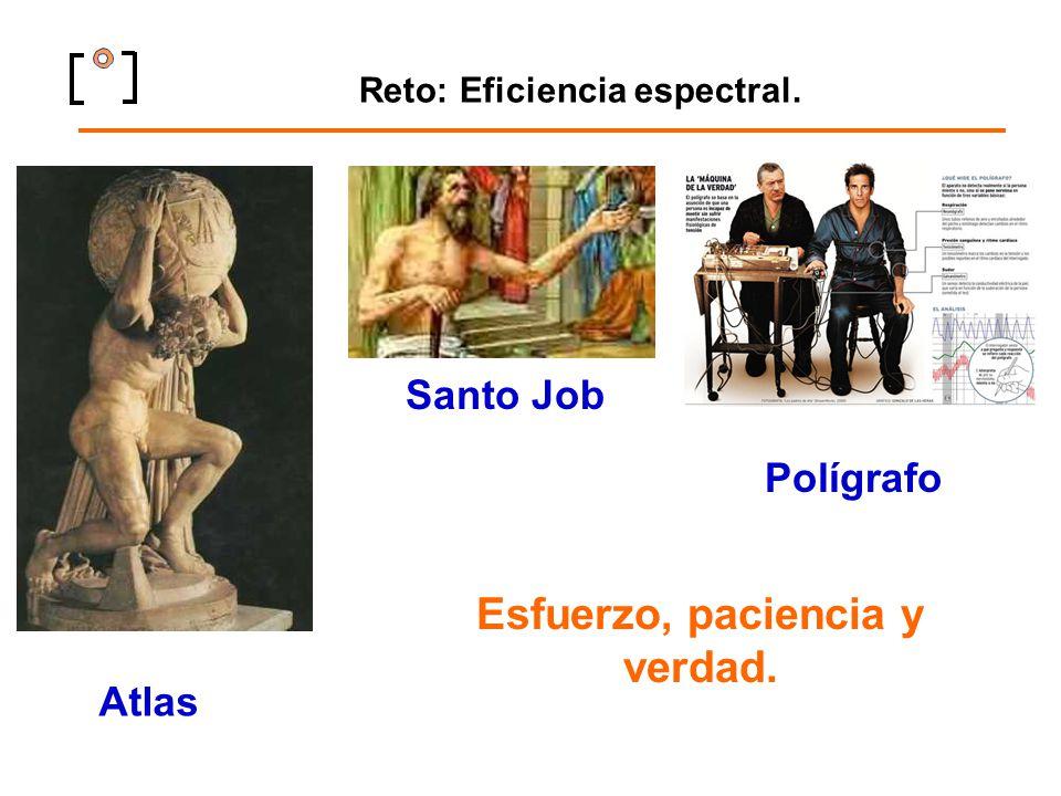 Reto: Eficiencia espectral. Atlas Santo Job Esfuerzo, paciencia y verdad. Polígrafo