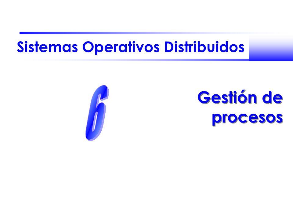 Sistemas Operativos Distribuidos Gestión de procesos