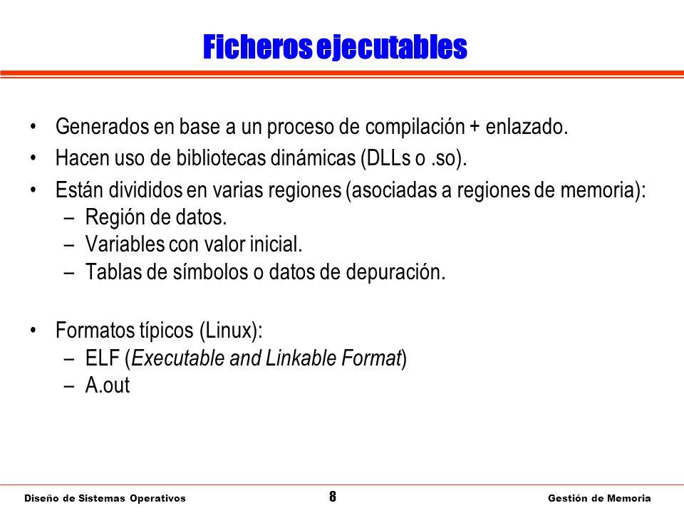 Diseño de Sistemas Operativos 29 Gestión de Memoria Paginación: Valoración ¿Proporciona las funciones deseables en un gestor de memoria.
