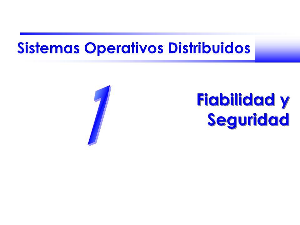 Sistemas Operativos Distribuidos Fiabilidad y Seguridad