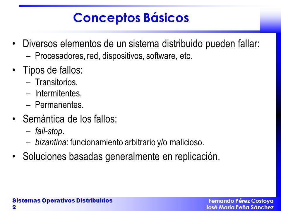 Fernando Pérez Costoya José María Peña Sánchez Sistemas Operativos Distribuidos 13 Protección Mismas alternativas que en sistema centralizado: –ACLs o capabilities.