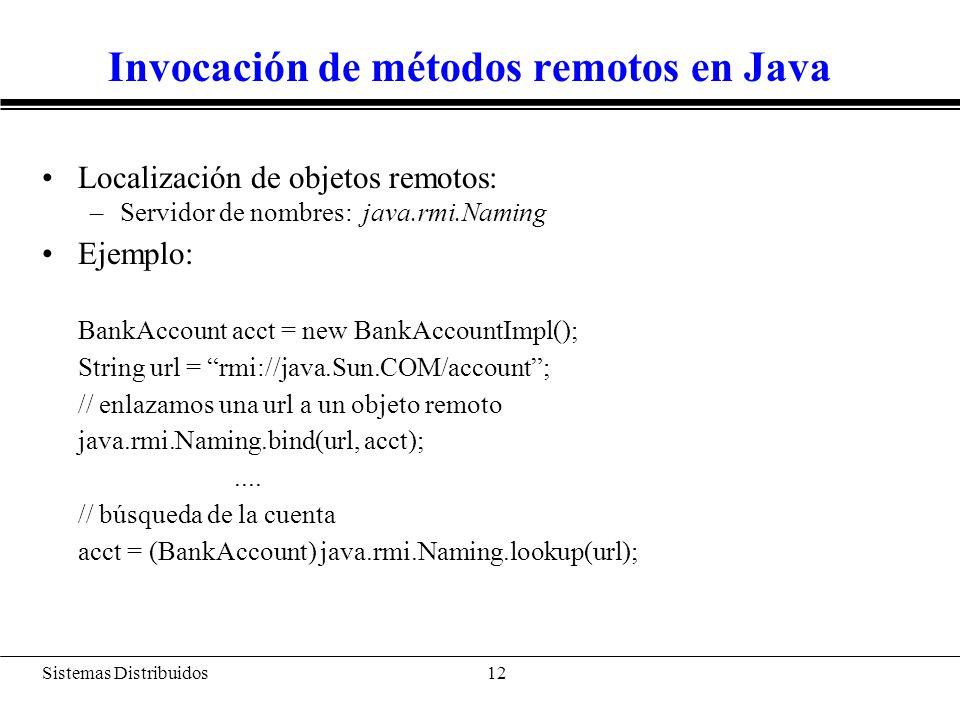 Sistemas Distribuidos 13 Arquitectura de Java RMI