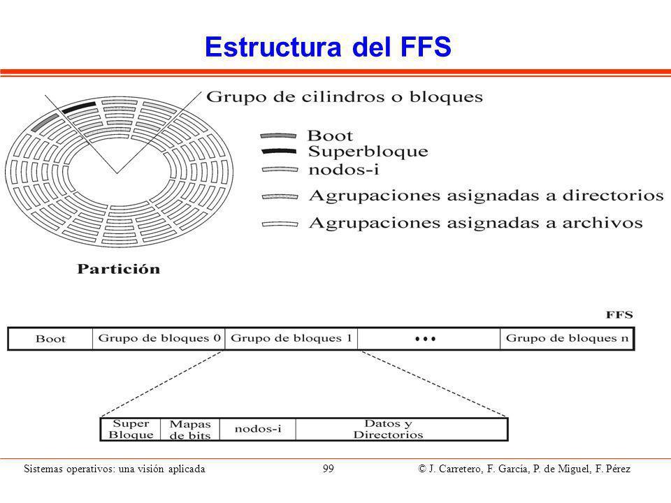 Sistemas operativos: una visión aplicada 99 © J.Carretero, F.