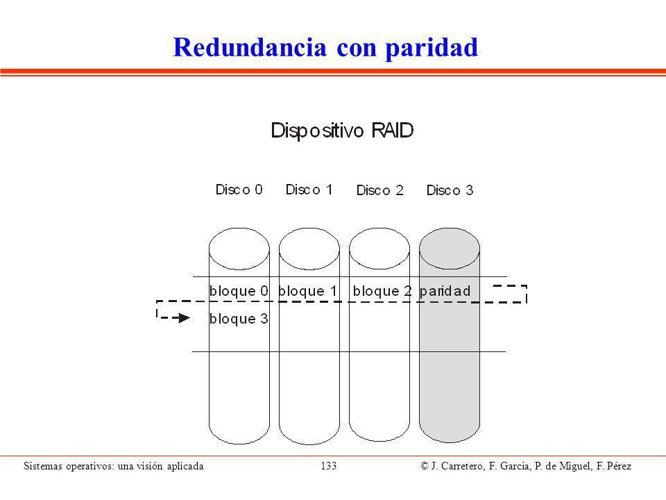 Sistemas operativos: una visión aplicada 133 © J.Carretero, F.